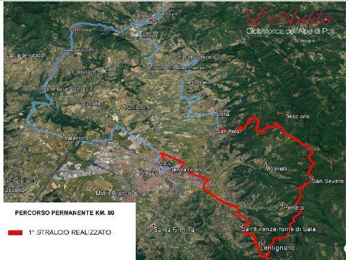 mappa dell'itinerario dell'Ardita