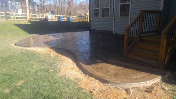 stamped concrete raleigh, stamped concrete cary, gutters cary, concrete cary