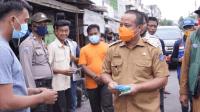 Wakil Gubernur Sulsel saat meninjau lokasi kebakaran di Kerung-Kerung, Makassar