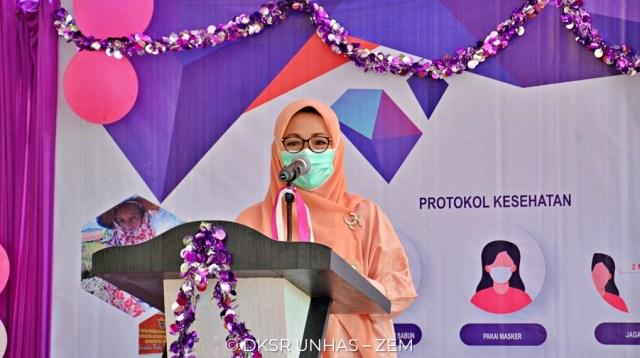 Rektor Universitas Hasanuddin (Unhas) Prof Dwia Aries Tina Pulubuhu