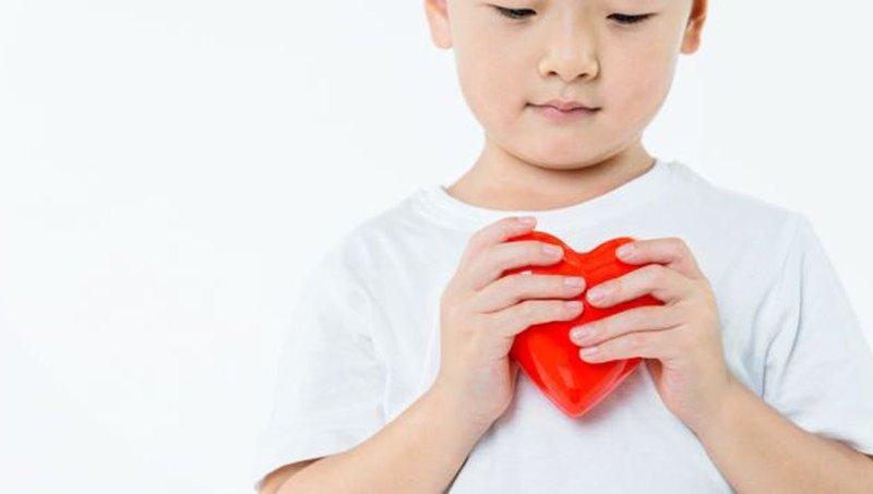 Ilustrasi anak penderita jantung bocor.