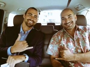 Omar Sultan of Sultan Ventures with UberPITCH entrepreneur.