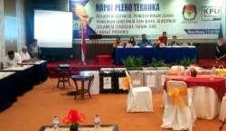 Saksi Paslon Pilgub Belum Hadir, KPU Skorsing Pleno Rekapitulasi Suara