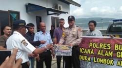 Peduli Gempa Lombok, Polres Buton Galang Dana di Jalan
