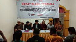 Suasana Rapat Pleno terbuka penetapan DPT Pemilihan Umum 2019 (Foto: Ali Tidar/SULTRAKINI.COM)