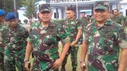 Kunjungan Panglima Komando Operasi TNI Angkatan Udara II, Marsekal Muda TNI Henri Alfiandi di Bandara Lanud Haluoleo Kendari. (Foto: Hasrul Tamrin/SULTRAKINI.COM)