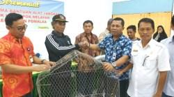Penyerahan bantuan perikanan bagi nelayan di Pomalaa. (Foto: Dok.SULTRAKINI.COM)