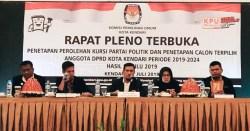 KPU Tetapkan 35 Caleg Terpilih DPRD Kota Kendari