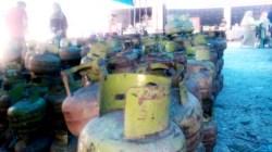 Stok elpiji di Pasar Murah Kota Kendari. (Foto: Wa Rifin/SULTRAKINI.COM)