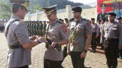 Kapolda Sultra, Brigjen Pol Merdisyam melantik AKBP Achmad Fathul Ulum sebagai Kapolres Konawe Utara, Jumat (3/1/2020). (Foto: Humas Polda Sultra)