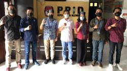 Silaturahmi pengurus BPC dan Panitia KSL jelang Konfercab XXI GMKI Kendari bersama Ketua KPU Kota Kendari, Jumwal Shaleh. (Foto: Ist)