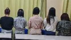 Lima diantara 11 ABG yang diduga melakukan prostitusi secara online ditangkap polisi pada Selasa (6 APril 2021) malam. Foto: IST.