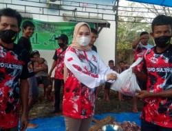 DPC Gerindra Konsel Bersama ASR Berbagi Daging Kurban