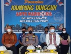 Wakil Bupati dan Kapolres Konawe Resmikan Kampung Tangguh Bebas Narkoba