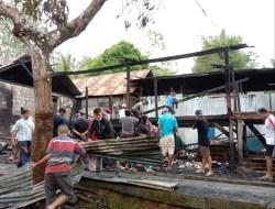 Rumah Tertua Milik Warga di Kelurahan Kadolokatapi Baubau Habis Terbakar