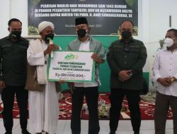 Andi Sumangerukka Sumbang 100 Juta Bantu Pembangunan Pesantren Tahfizul Quran Nizzamuddin Auliya