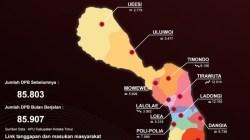Infografis sebaran pemilih di setiap kecamatan dlam wilayah Kolaka Timur.