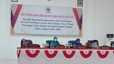 """DPRD Koltim Gelar Paripurna, Pasangan Akronim """"SBM"""" Ditetapkan Sebagai Bupati dan Wabup Periode 2021-2026"""