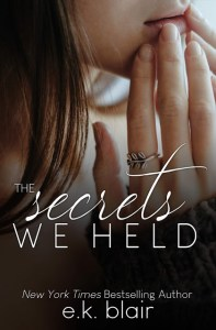The Secrets We Held by E.K. Blair Release & Dual Review