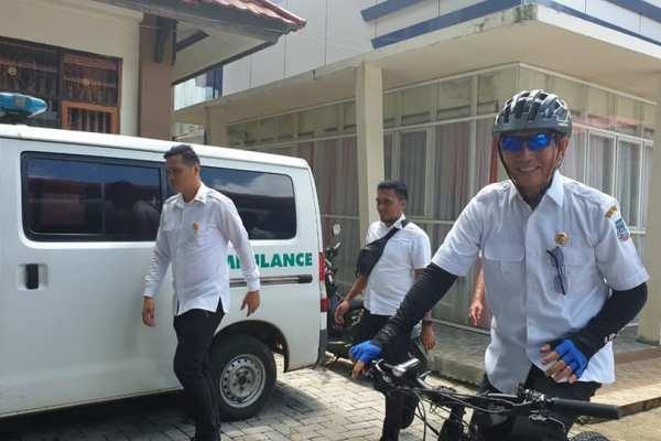 Gunakan Sepeda, Walikota GSVL Buka Seleksi Paskibraka Kota Manado Tahun 2020