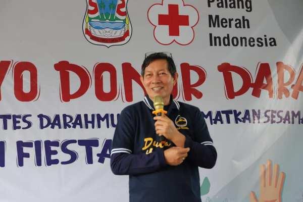 Walikota GSVL Bersama Ketua PMI Kota Manado, Hadiri Kegiatan Ayo Donor Darah Kerja Sama Pemkot dan PMI Kota Manado