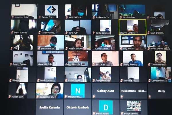 Walikota Pimpin Rapat Online Melalui Aplikasi Zoom