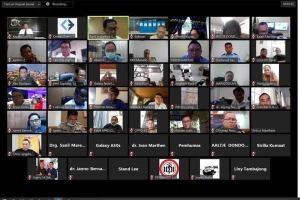 Tindaklanjut Arahan Presiden,Walikota GSVL Pimpin Rapat Melalui Video Confrence Bersama Forkopimda, DPRD, Instansi Terkait