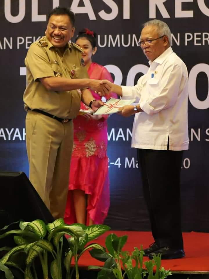 Konreg PUPR 2020, Gubernur Olly Apresiasi Menteri Basuki