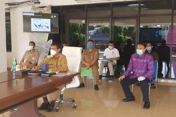 Walikota GSVL Rapat Vicon Bersama Menteri Dalam Negeri