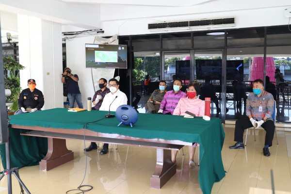 Wakili Walikota, Wawali Mor Ikuti Rapat Vidcon Bersama Mensos RI