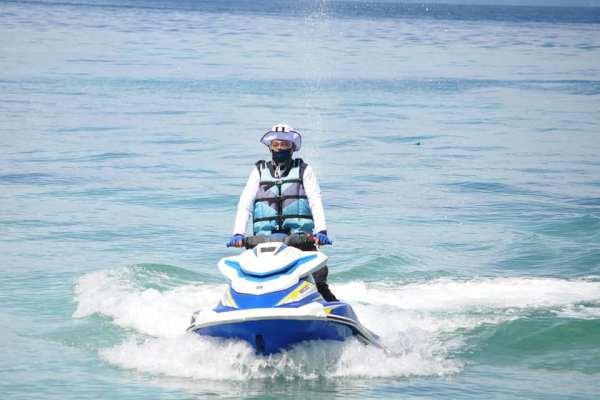 Kembali Walikota GSVL Gunakan Jetsky ke Bunaken dan Siladen