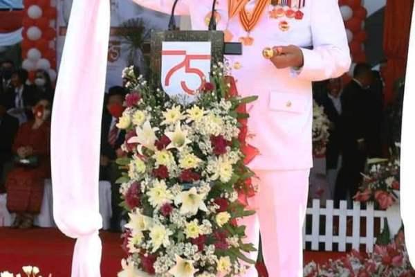 Pemprov Sulut Sukses Gelar Upacara Penurunan Bendera HUT ke-75 RI