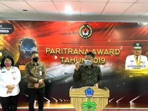 Pemprov Sulut Sabet Paritrana Award 2019