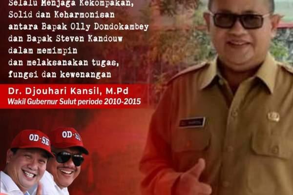 Mantan Wagub Sulut Djouhari Kansil Puji Kepemimpinan ODSK
