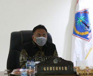 Bahas Penanganan Covid-19, Gubernur Olly Ikuti Rapat Online Bersama Presiden Jokowi