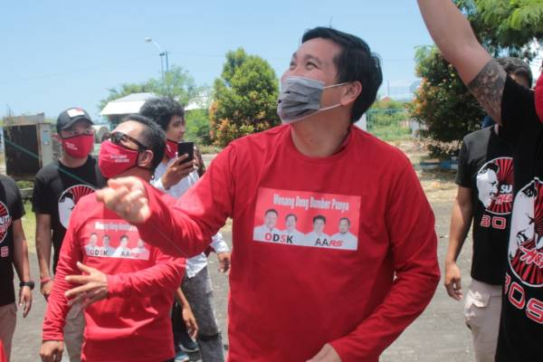 Wagub Steven Kandouw Bersama Rio Dondokambey 'Bawora Palinggir' di Marina Plaza
