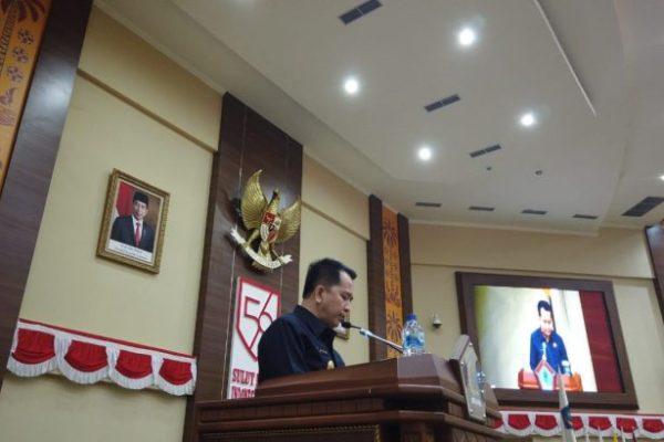 Didampingi Forkopimda, Pjs Gubernur Sampaikan Ranperda ke DPRD Sulut