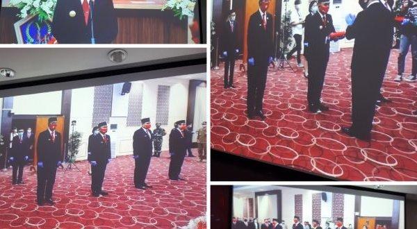 Langsung Action, Pjs Gubernur Agus Fatoni Kukuhkan 5 Pjs Kepala Daerah di Sulut