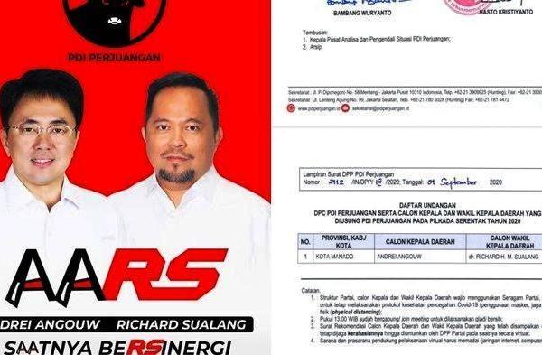 SK DPP PDIP Beredar di Medsos , AA-RS Final Maju di Pilkada Manado