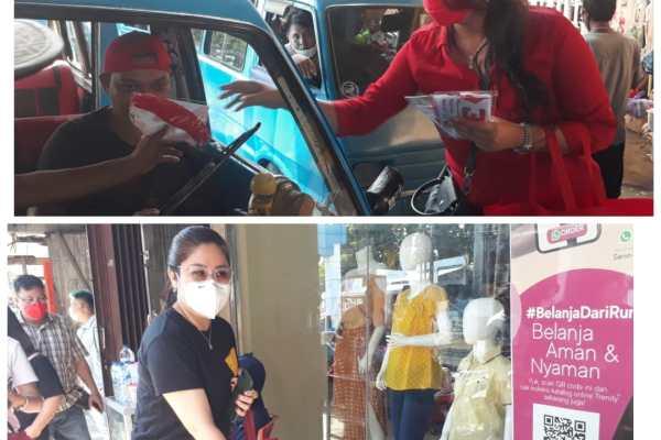 Pusat Kota 45 Heboh, Dua Srikandi Dokter Ini Gebrak Masker dan Hand Sanitizer