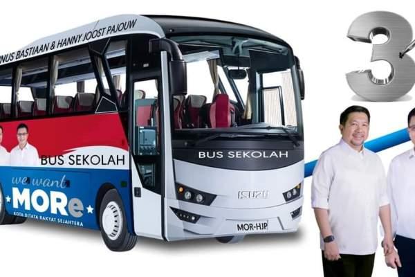 MOR-HJP Siapkan Bus Sekolah Gratis Tiap Kecamatan, Bantu Siswa Kurang Mampu