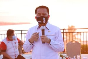 Pantau Protokol Kesehatan, Pjs Gubernur Fatoni Kunjungi Sekretariat Pemenangan Paslon Gubernur dan Wakil Gubernur Sulut Nomor Urut 3