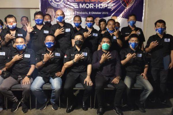 Ketua Brigade MOR-HJP Ronny Eman Komitmen Menangkan Paslon MOR-HJP di Pilwako Manado