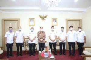 Pjs Gubernur Sulut Terima Audiensi Pjs Walikota Bitung, Bahas Netralitas ASN dan Penanganan Covid-19