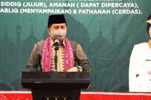 Hadiri Peringatan Maulid Nabi Muhammad SAW di Kotamobagu, Pjs Gubernur Fatoni Sosialisasikan Gerakan Sulut Bermasker