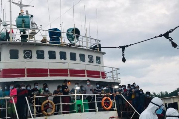 Terapkan Protokol C-19, Debarkasi 155 ABK WNI dari Cina Berjalan Lancar