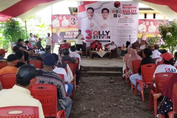"""Dialog Dengan Warga di Kecamatan Poigar Bolmong, Emak-Emak: Kami Siap Pilih Olly-Steven"""