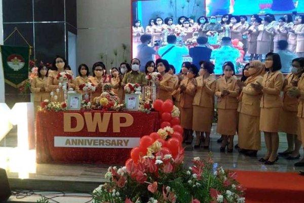 Ivone Silangen Lombok Gelar Perayaan HUT Ke-21 DWP Tahun 2020