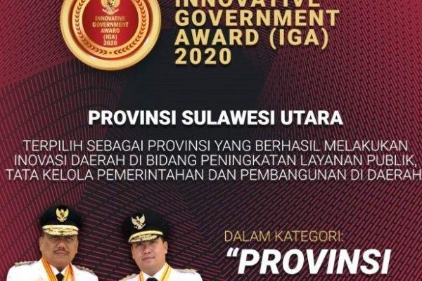 Sulut Terinovatif se-Indonesia, Gubernur Olly Raih Penghargaan IGA 2020