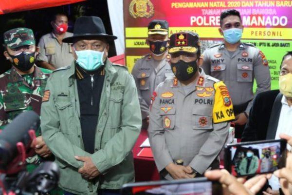 Gubernur Olly Bersama Forkopimda Pantau Situasi Malam Pergantian Tahun di Sulut